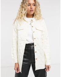 Vila Quilted Oversized Overshirt - White