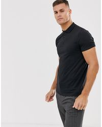 ASOS Jersey Polo In Black