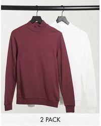ASOS Organic Turtle Neck Sweatshirt 2 Pack - Multicolor