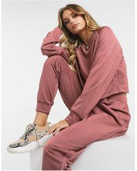 ASOS – Trainingsanzug mit Sweatshirt und Jogginghose - Pink