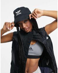 adidas Originals - Черная Панама С Логотипом -черный Цвет - Lyst