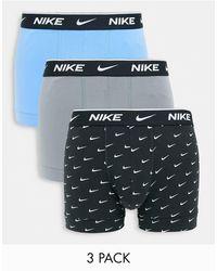 Nike - Unterhosen aus elastischer baumwolle im 3er-pack - Lyst