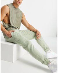 New Look Jogger cargo en jersey - Vert
