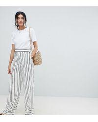 ASOS - Asos Design Tall Tailored Clean Linen Wide Leg Trousers - Lyst