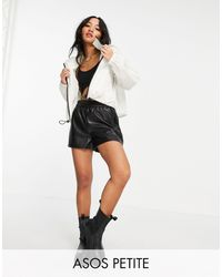 ASOS Petite Cropped Rain Jacket - White