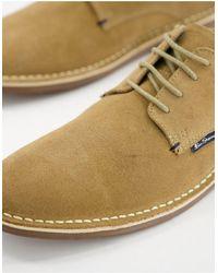 Ben Sherman Chaussures chukka à lacets en daim - Beige - Neutre