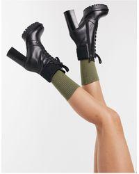 Karl Lagerfeld Черные Ботильоны На Каблуке С Логотипом -черный