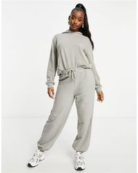 NA-KD Organic Blend Cotton joggers - Grey