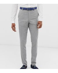 ASOS - Tall Wedding Skinny Suit Pants In Gray Twist Micro Texture - Lyst