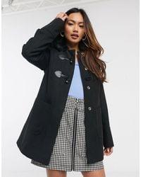 Miss Selfridge Duffle Coat - Black