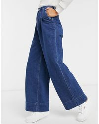 Monki Nani Organic Cotton Wide Leg Jeans - Blue
