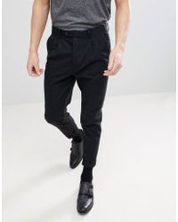 AllSaints - Tapered Smart Pants - Lyst