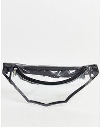ASOS – Rave – Gürteltasche zum Umhängen aus transparentem Kunststoff - Mehrfarbig