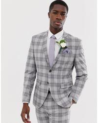Jack & Jones Premium Slim Fit Suit Jacket - Grey
