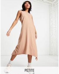 Noisy May Vestito lungo senza maniche color cammello - Multicolore
