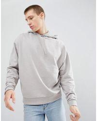 ASOS - Oversized Hoodie In Light Grey - Lyst