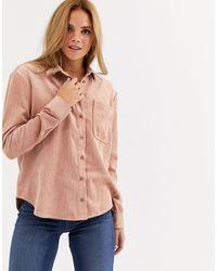 Miss Selfridge Cord Shirt - Pink