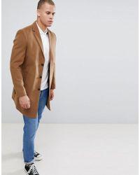New Look - Overcoat In Camel - Lyst