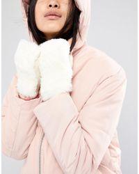 Vincent Pradier Fingerless Faux Fur Leopard Gloves In Winter White