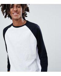 Pull&Bear Top manches longues raglan et logo - Blanc