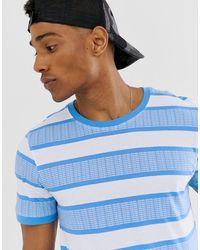 Jack & Jones - Core Printed Stripe T-shirt In Blue - Lyst