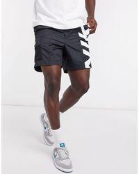 Nike Polyknit Short Met Logo - Zwart