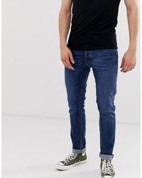 Jack & Jones - Jeans slim affusolati blu medio - Lyst