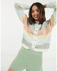 Pieces Cardigan a righe - Verde