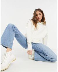 New Look Maglione color avena con zip corta - Neutro