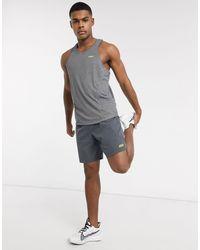 ASOS 4505 Camiseta sin mangas para entrenar con icono con espalda - Gris