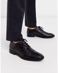 Redfoot Черные Кожаные Туфли Дерби -черный