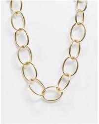 Pilgrim Золотистое Массивное Ожерелье -золотой - Металлик