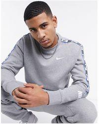 Nike - Серый Свитшот С Круглым Вырезом Repeat Pack - Lyst