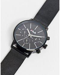 Fila Gold - Horloge Met Blauwe Wijzerplaat - Metallic