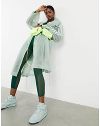 Ivy Park Adidas X Mesh Trench Coat - Green