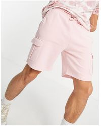 Karlkani Small Signature Washed Cargo Shorts - Pink