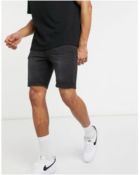 ASOS Spray On Denim Shorts With Power Stretch - Black