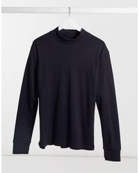 Another Influence High Neck Long Sleeve Top - Black