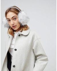 Ted Baker - Premium Faux Fur Ear Muff - Lyst