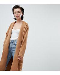 Weekday Cappotto in maglia cammello drappeggiato - Neutro