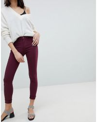 Pieces - Mid Rise Superstretch Skinny Jeans - Lyst