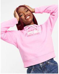 Tommy Hilfiger Розовый Худи С Логотипом Флага -розовый Цвет