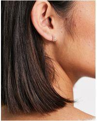 Kingsley Ryan Double Row Illusion Hoop Earrings - Metallic