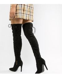 Truffle Collection - Over The Knee Boots - Lyst