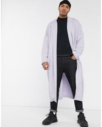 ASOS Extreem Oversized Jersey Dusterjas - Paars