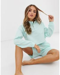 ASOS Lounge Zip Sweat & Short Set - Blue