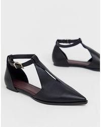 ASOS Lockwood Pointed Ballet Flats - Black