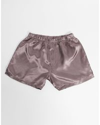 ASOS Satin Boxers - Pink
