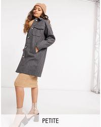 Vero Moda Удлиненная Куртка-рубашка Темно-серого Цвета -серый