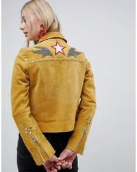 Muubaa - Western Style Suede Jacket - Lyst